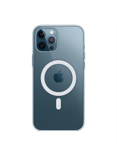 Apple iPhone 12 Pro Max için MagSafe özellikli Şeffaf Kılıf Renksiz